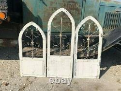 3 French Country Wood Metal Window Frame, Architectural Frame, Farmhouse Decor