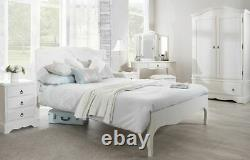 4ft6 Double Bed Antique White Quality French Bed Frame Romance Bedroom Furniture
