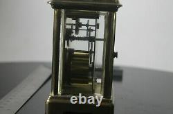 A Brass Framed Carriage Clock Timepiece By Bornand Freres Montbeliard