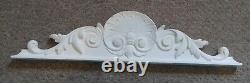 A set of 4 large traditional french style door window pediment frame architrave