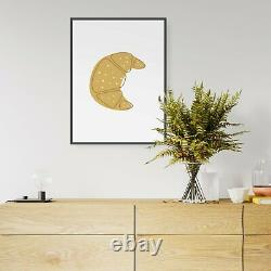 Abstract French Croissant Cafe Kitchen Wall Art Print Poster Framed or Canvas