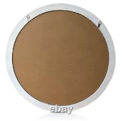 Antic by Casa Chic Round French Window Mirror in Antic White Solid Frame 90 cm