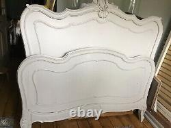 Antique French Double Bed Frame With Bespoke Base
