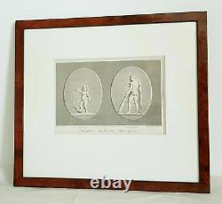 Antique WICAR Jean-Baptiste engraved stones etching on paper France 18th Century
