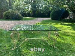 Beautiful French Ornate Iron Frame Dinning Table