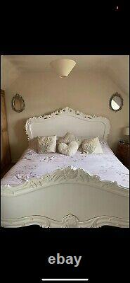 Beautiful White French Scroll Style Superking Bed Frame