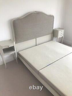 Bedroom furniture, French, in good overall condition. Double Bed frame
