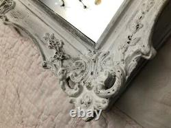 Decorative Antique Mirror / Frame, French style, shabby chic, white, Pine