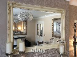 EXTRA LARGE CREAM WALL MIRROR SAVE ££'s INSURED IN TRANSIT