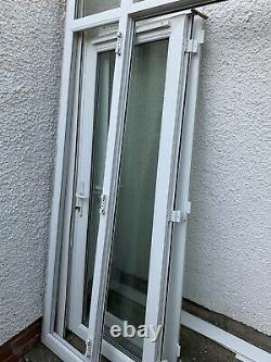 Exterior external upvc double Glazed french doors in frame with Side Windows