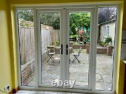 External upvc double Glazed french Patio doors in frame with Side Windows