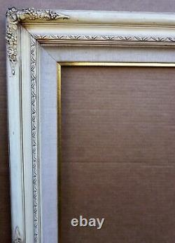 Frame French Modern MID Century Large White Fits 30' X 40' Floral Motif