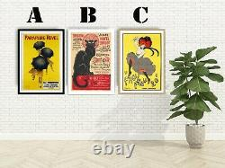French Vintage Advertising Art Print Poster Set. Choice of Great 3 Prints