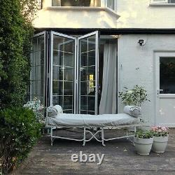 French white frame folding daybed vintage