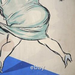 Georges Goursat SEM White Bottoms Lithograph Print Cover French Art Deco Cartoon
