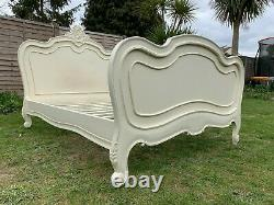 Gorgeous La Rochelle French Antique Ivory Style Double Bed Frame