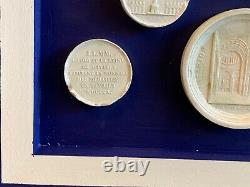 Grand Tour Style Framed Arrangement With French Plaster Intaglios