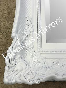 Huge French White Decorative Ornate Mirror Other Frame Colours Available