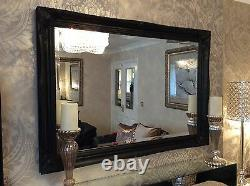 Large BLACK Hairdresser Salon Barber Beautiful Mirrors CHOOSE Size and Colour