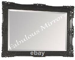 Large Black Decorative Ornate Fancy Mirror Stunning Choice of size & Colour