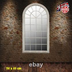 Large French Wall Mirror Traditional Indoor Outdoor Vintage Window Patio Decor