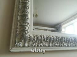 Large Painted White Mirror Wooden Framed bevel edged Euro Grande Deluxe ll
