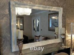 Large White Shabby Chic Wall Mirror Large Range Of Sizes To Choose From