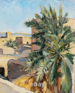 Louise morel French Oil Painting Orientalist Women Landscape Mauritania atar