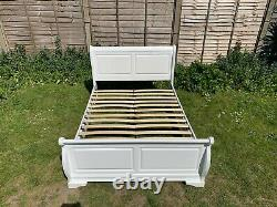 Lovely French Louie Sleigh 4ft Double Size Bed Frame Great Condition RRP £449
