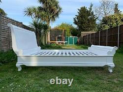 Lovely French Louis Handcrafted Solid Hardwood Sleigh 5ft King Size Bed Frame