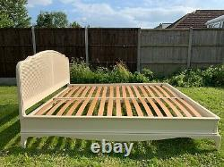 Marvellous French Style Ivory Rattan 6FT Super King Bed Frame