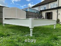 Marvellous Liberty White Rattan 4ft6 Double Bed Frame French Style RRP £599