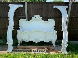 Masterpiece Raphael Handcrafted French Antique White 5FT King Bed Frame