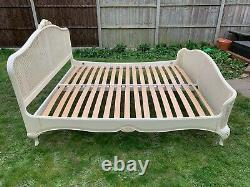 Masterpiece Willis & Gambier Ivory Rattan French Style 6ft Super King Bed Frame