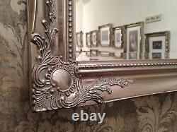Mirror X LARGE Antique Silver Shabby Chic Ornate Decorative Wall Mirror SAVE ££s