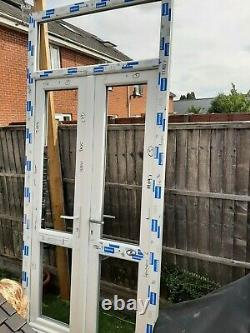 New upvc french doors and frame