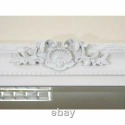 PARIS Ornate Extra-large French Full Length Wall Leaner Mirror WHITE 175 x 84cm