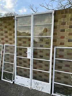 Reclaimed Old Art Deco Crittall French Double Doors and Windows NO FRAMES