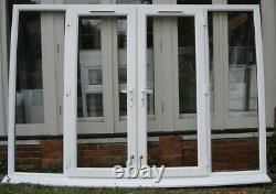 Reclaimed large white UPVC d/g 4 section French doors frame & sill Essex