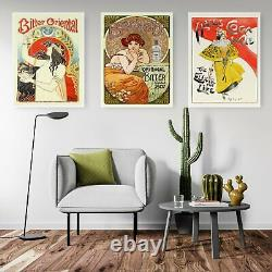 Set of Vintage French Bitter Adverts Wall Art Print Poster Framed or Canvas