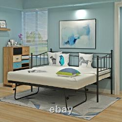 Single Metal Day Bed French 3ft Guest Bed Frame Or with Trundle Trundle Frame