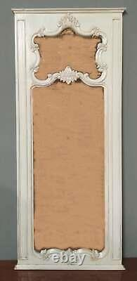 Solid Mahogany French Chateau Antique White Carved Large 2 M Tall Mirror Frame