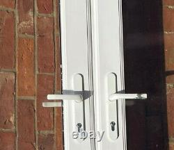 UPVC French Doors with Frame white, used but good condition, 206cm x 123cm