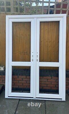 Upvc French Door, Used For 1 Week, No Glass, Frame Size 1460x2060