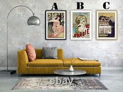 Vintage French Cigarette Advertising Art Print Poster Set. Choice of 3 Prints