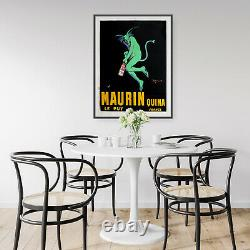 Vintage Maurin Quina Wine French Cafe Decor Art Poster Print A4 B1 Framed