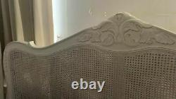 Vintage Provence French Style Rattan Antique 6FT Super King Size Bed Frame
