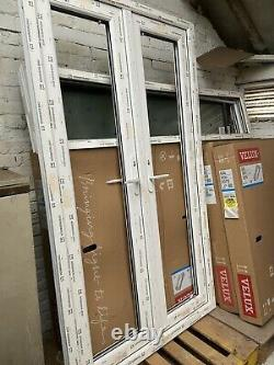 WHITE UPVC FRENCH DOORS AND FRAME DOUBLE GLAZED With Side Panels