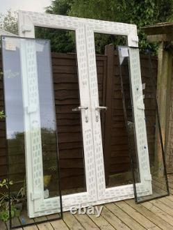 White UPVC French Doors And Frame 1450mm Wide X 2080 mm High With Glass