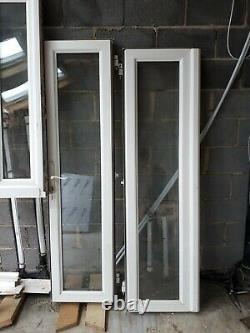 White UPVC French Double Door Window Frame with side outlets Double Glazed